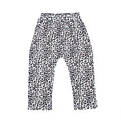 billige Bukser og leggings til piger-Stribet Leopard Pigens Daglig Ferie Bomuld Forår Efterår Langærmet Kjole Sødt Brun Lyserød