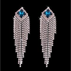 cheap Earrings-Women's Bohemian Crystal / Silver Plated Stud Earrings / Hoop Earrings - Bohemian / Fashion Silver Line Earrings For Wedding / Ceremony