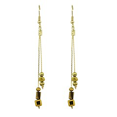 Drop Earrings - Fashion Brown For Gift Date