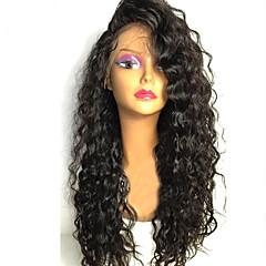 billige Parykker & hair extensions-Remy hår Paryk Brasiliansk hår Krøllet Frisure i lag 130% Massefylde Med Baby Hair Til sorte kvinder Sort Kort Lang Mellemlængde Dame