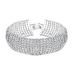 cheap Bracelets-Women's Rhinestone Bracelet - Fashion European Gold Silver Bracelet For Wedding Party