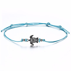 baratos Bijoux de Corps-Tornezeleira - Tartaruga, Animal Simples, Vintage Branco / Preto / Azul Para Presente Mulheres