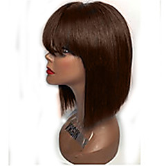 cheap Wigs & Hair Pieces-brazilian virgin straight human hair bob wig unprocessed short human hair wigs with bang for black women