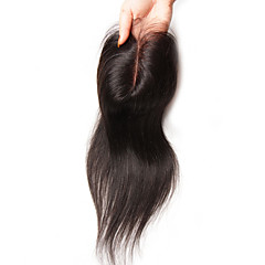 cheap Wigs & Hair Pieces-Guanyuwigs Brazilian Hair 4x4 Closure Straight Free Part / Middle Part / 3 Part Swiss Lace Human Hair Women's Silky Daily