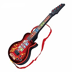 cheap Toy Instruments-Mini Guitar Guitar Lights Music Unisex