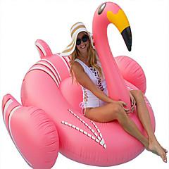 hesapli Şişme Botlar ve Havuz Şezlongları-Flamingo Şişme Havuz Şamandıraları Donut Havuz Şamandıraları Dış Mekan PVC / winyl 1pcs Çocuklar için Yetişkin Hepsi