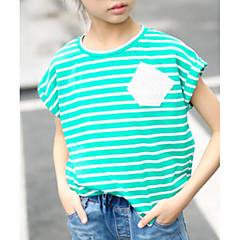 baratos Roupas de Meninas-Infantil Para Meninas Estampa Colorida / Outro Manga Curta Camiseta