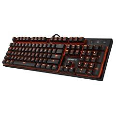 billiga Keyboards-GIGABYTE K85 Kabel RGB bakgrundsbelysning röda Switches 104 pcs Gaming Keyboard bakgrundsbelyst USB Port driven