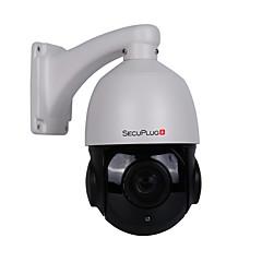 secuplug + ptz ip kamera 5mp super hd 2592x1944 piksler pan / tilt 30x zoom hastighet dome kamera for utendørs