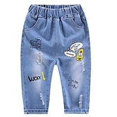 billige Jeans til piger-Børn Unisex Geometrisk Jeans