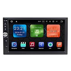 billiga DVD-spelare till bilen-Factory OEM 7 tum 2 Din Android 7.1 Inbyggd Bluetooth / GPS / RDS för Universell Stöd / Rattstyrning / Wifi / Pekskärm / AVI / MPEG4