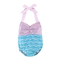 baratos Roupas de Meninas-Bébé / Bebê Para Meninas Praia Estampado Algodão Roupa de Banho
