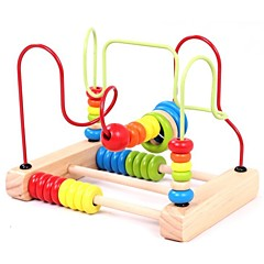 cheap Games & Puzzles-IQ Brain Teaser Parent-Child Interaction Wooden Kid's Gift 1pcs
