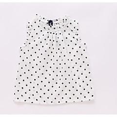 tanie Odzież dla dziewczynek-Dzieci Dla dziewczynek Aktywny Groszki Bez rękawów Tanktop / koszulka na ramiączkach