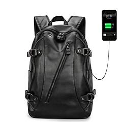"""hesapli Laptop Çantaları-PU Deri Tek Renk Sırt Çantaları / El Çantaları 14 """"Dizüstü Bilgisayar / iPad"""