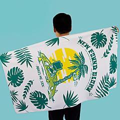billiga Handdukar och badrockar-Överlägsen kvalitet Strand handduk, Geometrisk / Blommig / Botanisk Polyester / Bomull Blandning 1 pcs