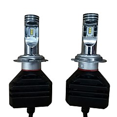 billige Frontlykter til bil-2pcs H7 Bil Elpærer 50W Høypresterende LED 14000lm 2 LED Hodelykt For Porsche / Ford / BMW Mustang / A4L / X3 Alle år