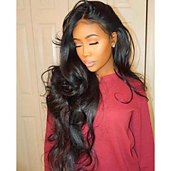 cheap Wigs & Hair Pieces-Remy Human Hair Lace Front Wig Brazilian Hair Wavy Wig 150% Density with Baby Hair 100% Virgin Women's Long Human Hair Lace Wig beikashang