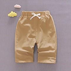 billige Bukser og leggings til piger-Børn Unisex Basale Daglig Ensfarvet Patchwork Bomuld Bukser Orange 100