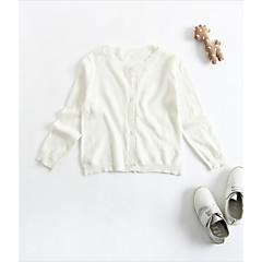 billige Overtøj til babyer-Baby Unisex Basale Ensfarvet Langærmet Kort Bomuld Jakke og frakke