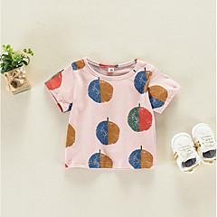 billige Babyoverdele-Baby Unisex Gade Trykt mønster Kortærmet Bluse
