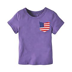 baratos Roupas de Meninos-Bébé Para Meninos Estampado Manga Curta Camiseta