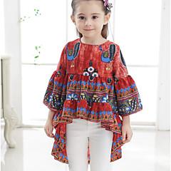 billige Pigetoppe-Børn Baby Pige Trykt mønster 3/4-ærmer T-shirt
