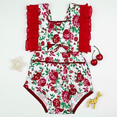 billige Babytøj-Baby Pige Aktiv Regnbue Uden ærmer Bomuld Bodysuit