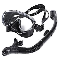 billiga Dykmasker, snorklar och simfötter-Snorklingspaket / Dykning Paket - Dykmaske, Snorkel - Anti-Dimma, Under vattnet, Torrdräkt – överdel Simmning, Dykning, Snorkelfenor Kiselgel  För Vuxen