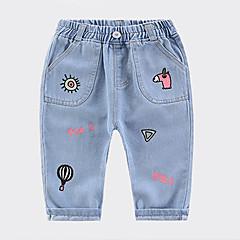 billige Bukser og leggings til piger-Børn Unisex Geometrisk Jeans