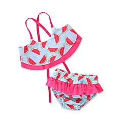 billige Badetøj-Børn / Baby / Nyfødt Pige Trykt mønster Uden ærmer Badetøj