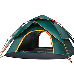 cheap Camping, Hiking & Backpacking-3 - 4 person Tent Double Camping Tent Outdoor Automatic Tent Quick Dry / Rain-Proof / UV resistant for Camping / Hiking / Caving /