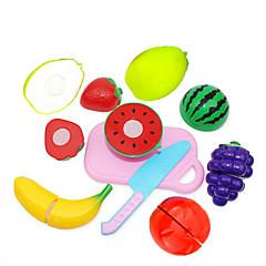 billiga Leksakskök och -mat-Toy köksutrustning Låtsaslek Frukt- och grönsaksskärare Frukt och grönt Kreativ Originella Plast Pojkar Barn Present