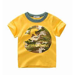 tanie Odzież dla chłopców-Dzieci Dla chłopców Podstawowy Codzienny Nadruk Nadruk Krótki rękaw Regularny Bawełna T-shirt Biały