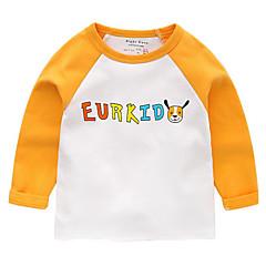 billige Babyoverdele-Baby Unisex Basale Trykt mønster Langærmet T-shirt