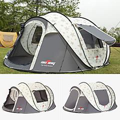 levne Stany a přístřešky-6 osob Malé stany Jednoduchý Automatický Dome Camping Tent Outdoor Lehký pro Kempování a turistika / cestování 1500-2000 mm Tkanina Oxford 283*213*125 cm