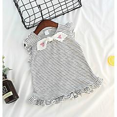 billige Babyoverdele-Baby Pige Aktiv Stribet Uden ærmer Polyester Undertrøje og cami-top Lyserød 100