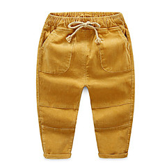 billige Drengebukser-Børn Drenge Gade Ensfarvet Bomuld Bukser