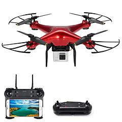 billige Fjernstyrte quadcoptere og multirotorer-RC Drone DM106S BNF 4 Kanaler 6 Akse 2.4G Med HD-kamera 0.3MP 480P Fjernstyrt quadkopter En Tast For Retur / Hodeløs Modus / Tilgang