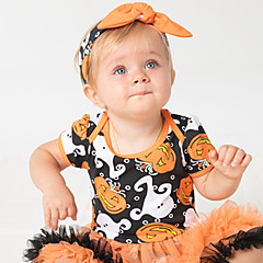 billige Babytøj-Baby Pige Farveblok / Patchwork Kortærmet Kjole