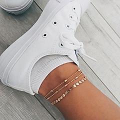 baratos Bijoux de Corps-Camadas tornozeleira - Lágrima Casual / desportivo, Coreano Dourado / Prata Para Presente Diário Rua Mulheres