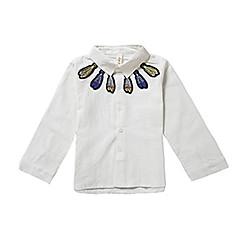 baratos Roupas de Meninos-Infantil Para Meninos Floral Manga Longa Camisa