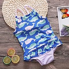 billige Badetøj til piger-Børn Pige Geometrisk Badetøj