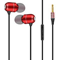 billiga Headsets och hörlurar-JTX S901 I öra Kabel Hörlurar Mikrofon Aluminum Alloy Sport & Fitness Hörlur mikrofon / Med volymkontroll headset