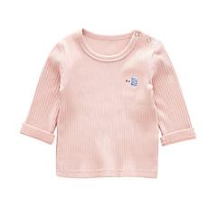 billige Babyoverdele-Baby Unisex Gade Geometrisk Langærmet Bomuld T-shirt