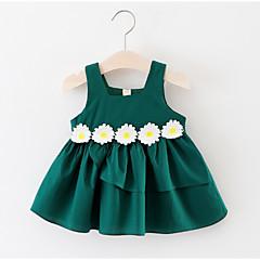 billige Babykjoler-Baby Pige Aktiv Geometrisk Uden ærmer Bomuld Kjole