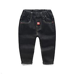 billige Drengebukser-Børn Drenge Basale Ensfarvet Bukser