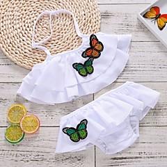 billige Badetøj til piger-Børn Pige Trykt mønster / Farveblok Badetøj