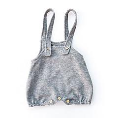 billige Babyunderdele-Baby Pige Aktiv Ensfarvet Bomuld Overall og jumpsuit