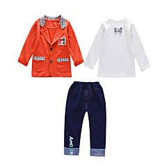 billige Tøjsæt til drenge-Børn Drenge Vintage / Basale Daglig / I-byen-tøj Ensfarvet Langærmet Normal Bomuld / Akryl Tøjsæt Orange
